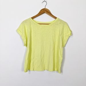 Eileen Fisher Boxy Hemp Organic Cotton T Shirt